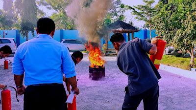 Persiapan Simulasi Pemadaman Kebakaran Di Markaz K180