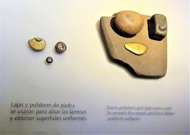 石の研磨機で金を均一化