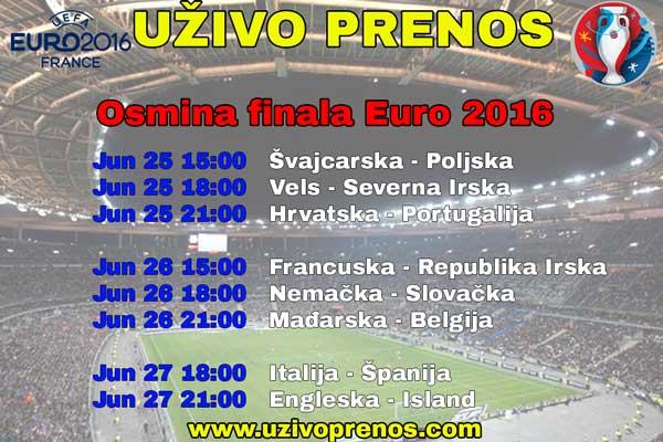 Osmina finala Euro 2016 uživo prenos