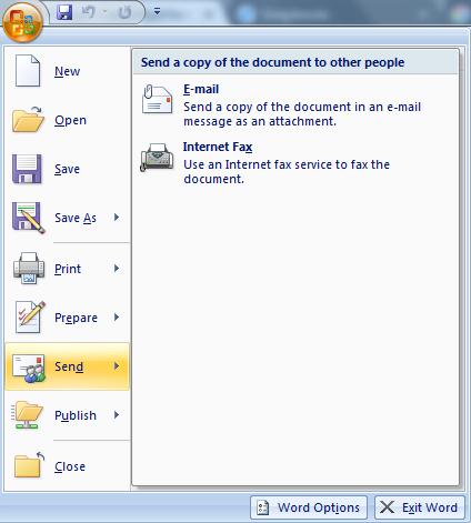 Bagian Bagian MS Word 12