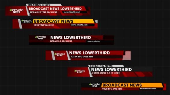 قالب افتر افكت فواصل بنرات تعريفية لقنوات الأخبار