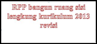 RPP bangun ruang sisi lengkung kurikulum 2013 revisi