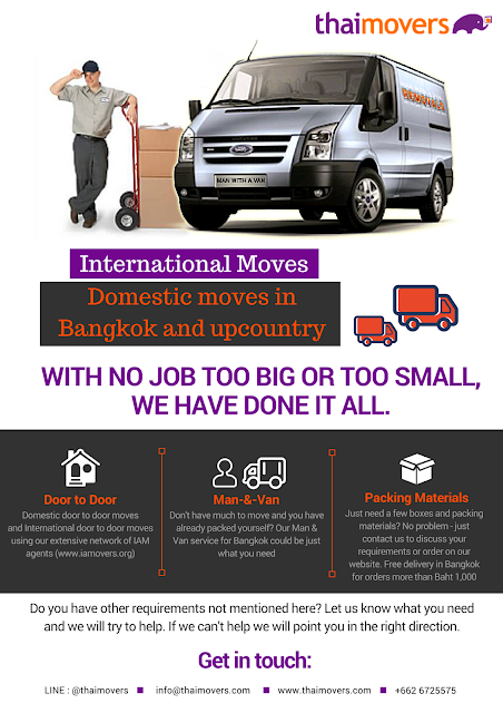 Moving service company in Thailand