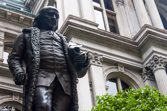 Estatua de Franklin en Boston - The freedom trial