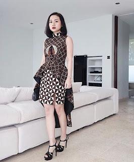 Model baju batik pesta untuk remaja trendy