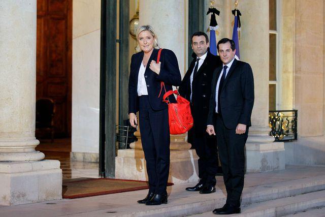 Marine Le Pen à l'Elysée en novembre 2015.