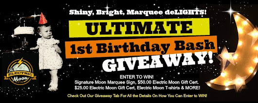 The Electric Moon is ONE! Celebrating With #GIVEAWAY Birthday Bash FUN!