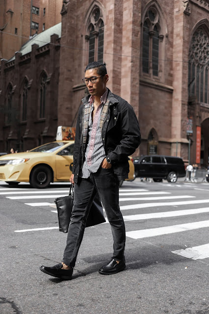 Menswear Blogger and Influencer wearing Sperry Loafers in City Prep Fall Style Look