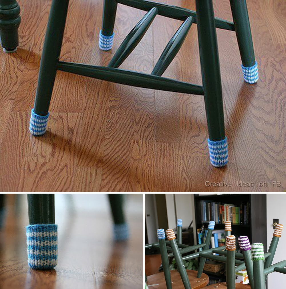 ideas products diy chair socks to protect your expensive wood floors. Black Bedroom Furniture Sets. Home Design Ideas