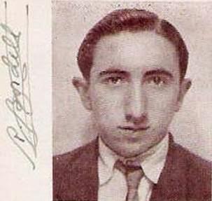 Foto y firma de Román Bordell