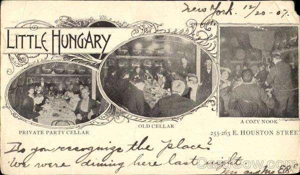 Memorabilia From The Little Hungary Restaurant Formerly At 255 263 East Houston Street A Century Ago It Was One Of Most Famous Restaurants In Nyc