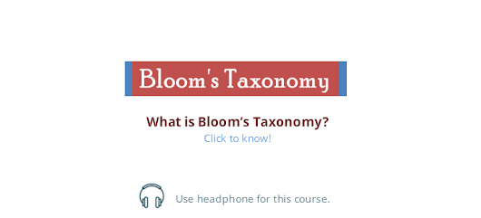 Bloom's Taxonomy E-Course [Simplified]