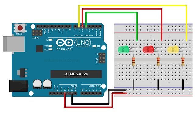 montando Arduino protoboard