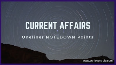 Current Affairs One Liners - 13th December 2017