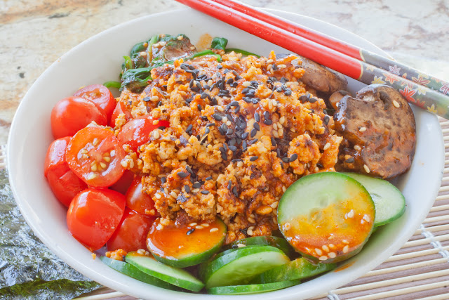 Korean Rice Cake Recipe Gochujang: SPICE ISLAND VEGAN: Spicy Korean Gochujang Bowl