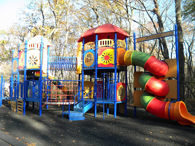 Playground structure at Milestone Day School, Waltham, MA