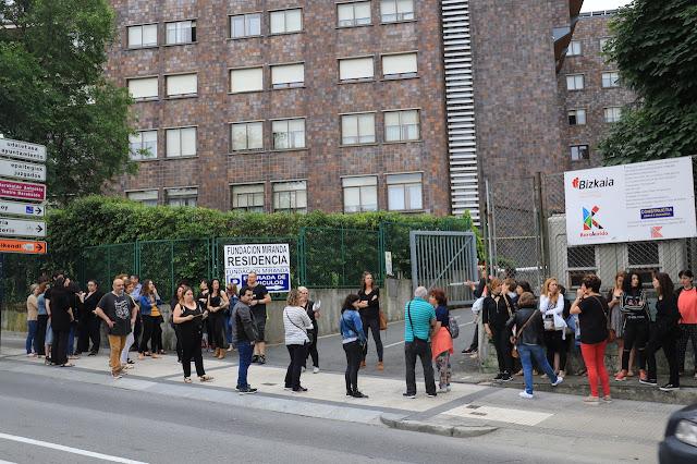 protesta trabajadores Fundación Miranda