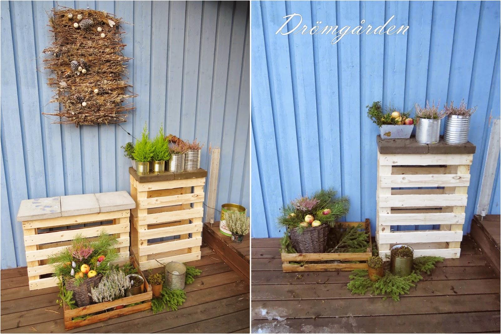 Drömgården: mera lastpallar, konservburkar och naturmaterial!