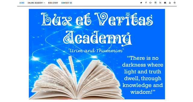 Lux et Veritas Website Academy Design by Julianne of Bratiful Creative Solutions
