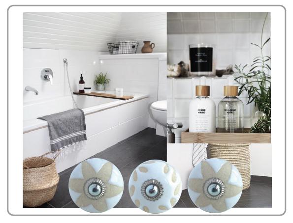bouton de meubles bi-matière