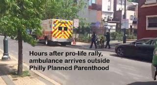 Hours after pro-life rally, ambulance arrives outside Philly Planned Parenthood