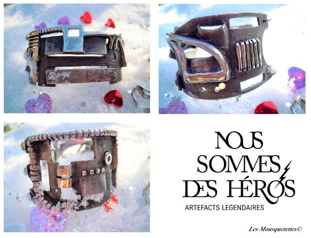 Bracelet I am the steam wrist - Nous Sommes des Héros - Les Mousquetettes©
