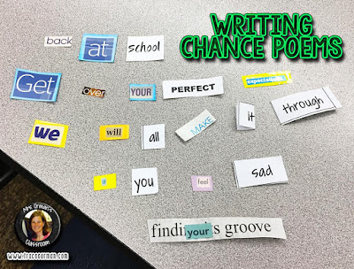Writing chance poems with newspaper ads  www.traceeorman.com