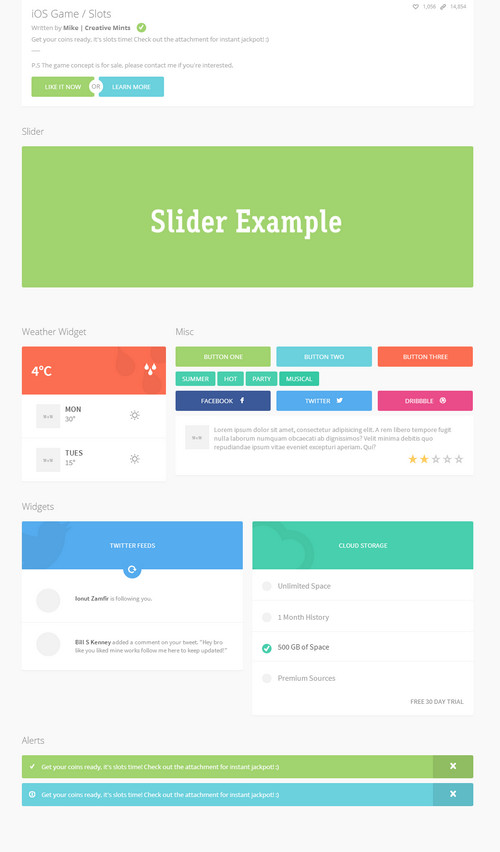 Latest Free HTML5 CSS3 UI kits