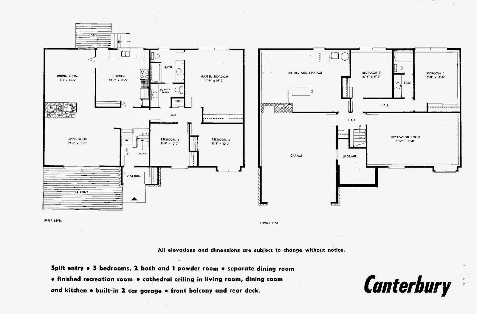MidCentury Modern and 1970sEra Ottawa July 2014 – Marlborough House Floor Plan