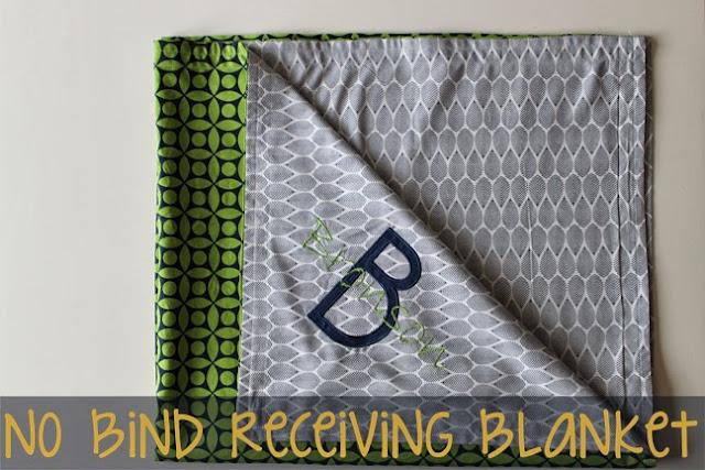 Piece N Quilt No Bind Receiving Blanket How To