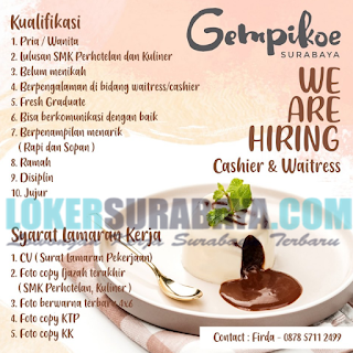 We Are Hiring Gempikoe Surabaya Terbaru Mei 2019