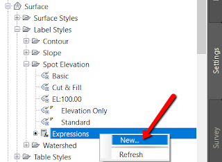 Creating simple expressions in Civil 3D from Autodesk
