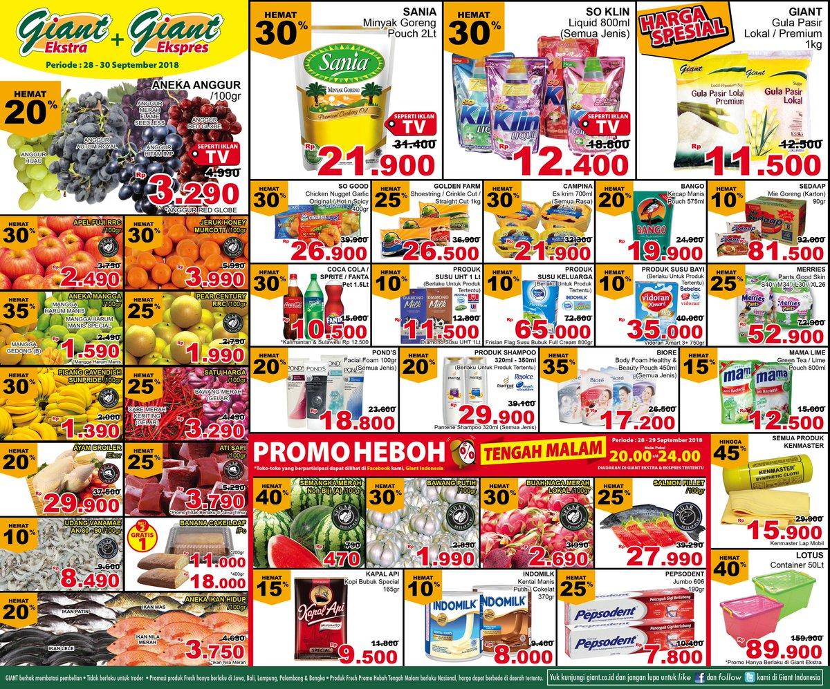 Giant - Katalog Promo Giant Periode 28 - 30 September 2018