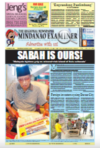 HOT OFF THE PRESS: The Mindanao Examiner Regional Newspaper Feb. 5-11, 2018