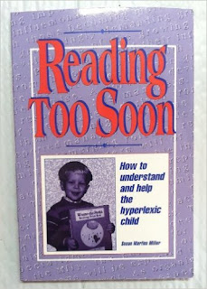 Reading Too Soon - books about hyperlexia from And Next Comes L