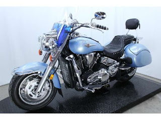 Pearl Glacial Blue-Kawasaki vulcan 2000 classic cruiser motorcycle