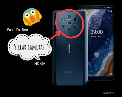 Nokia 9 PureView with the world's first 5 rear cameras