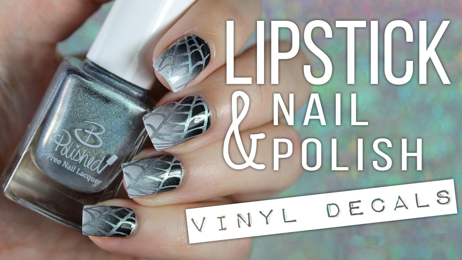 Bedlam Beauty: Lipstick & Nail Polish | Nail Swag Vinyl Decals