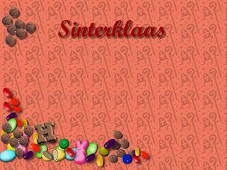 Sint wallpaper met snoepgoed