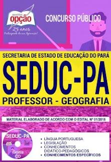 apostila Secretaria de Estado da Educação do Pará Professor Classe I