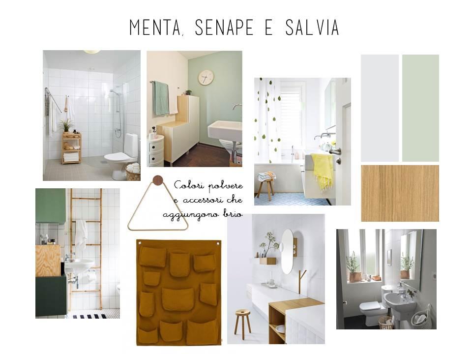 E design shop il bagno notte cambia look la tazzina blu - Bagno verde salvia ...