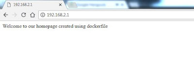 dockefile example webserver