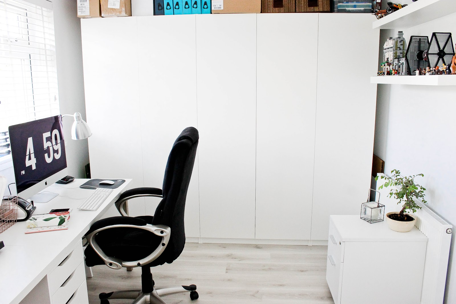 modern office, modern office desk, modern office chairs, ikea office, home office, home study, modern office interior, Scandinavian decor, Scandinavian interior, Scandinavian office furniture, lego display, lego lightsabers, office room tour, home interiors,