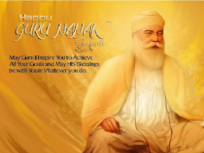 May His Blessings be with you .Happy Guru Nanak Jayanti