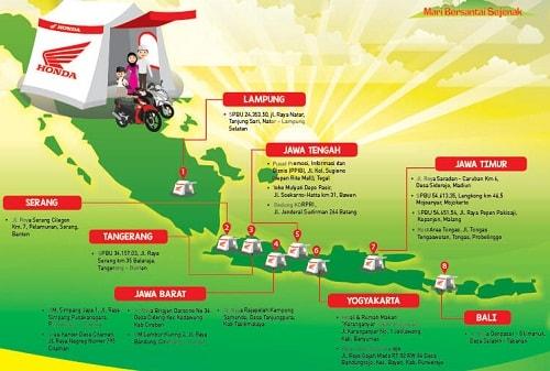Informasi Lokasi Posko Mudik Lebaran Honda 2017