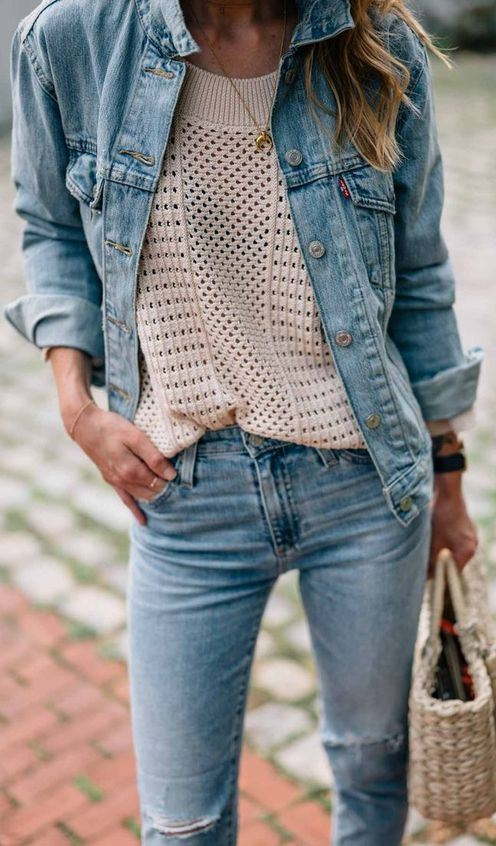 How to Style Denim on Denim this Winter