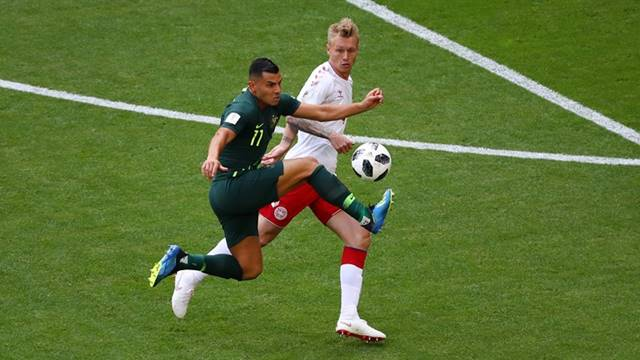 Hasil Pertandingan Denmark vs Australia - Piala Dunia 2018