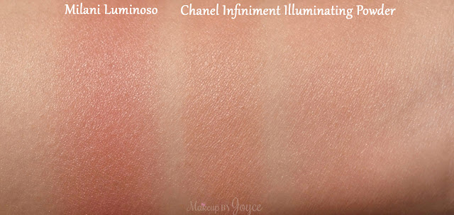 Chanel Infiniment Chanel Illuminating Powder Milani Luminoso Swatches
