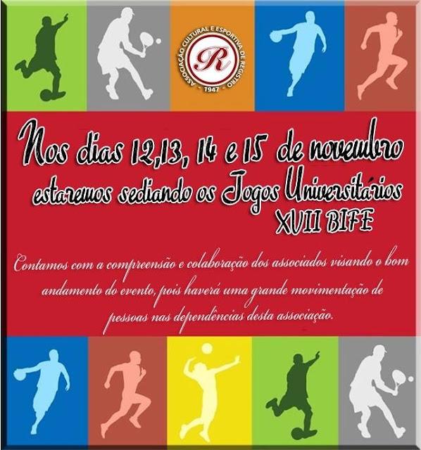 17º Jogos Universitários BIFE na ACER em Registro-SP