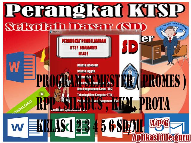 """PERANGKAT PEMBELAJARAN KELAS 6 SD """"RPP SILABUS PROMES PROTA KKM SK DAN KD"""" LENGKAP"""
